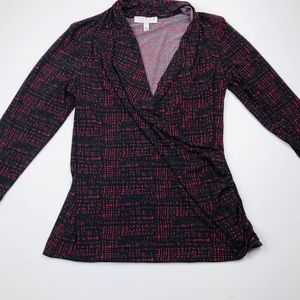 Women's dress shirt chaus New York EUC red & black